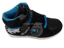 High ankle black color winter female running shoes