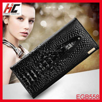 Latest design ladies hand purese fancy crocodile women wallets