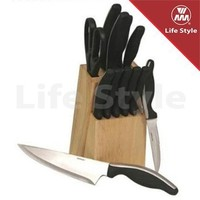 13pcs SS kitchen knife set/stainless steel knife