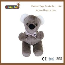 stuffed animal koala bear with ivory ribbon