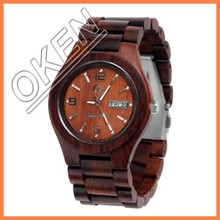 Charming waterproof wood grain watch with top quality 2015