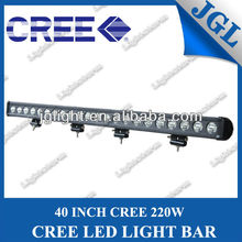 One Row 4x4 lights 40inch 220W CREE LED Light Bar for Off Road,SUV,UTV, ATV, 4WD, 4X4
