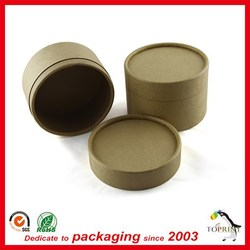 Toprint eco-friendly handmade round paper pulp soap container with logo