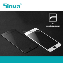 3D Curved full cover titanium alloy color tempered glass film screen protector 0.33mm for iphone 6