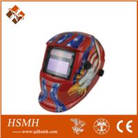 Helmet! 2014 new design welding mask both lithium batteries and solar cell safety auto darkening welding helmet