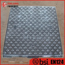 EN124 ductile iron 800x800 manhole cover square factory sale