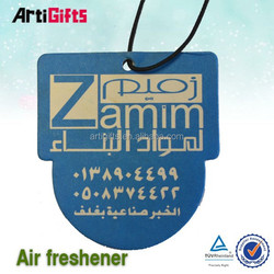 Promotion cheap custom hanging paper air freshener for home and car
