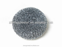 Stainless Steel Wire Scrubber Cleaning Ball, stainless steel scrubber, mesh scrubber