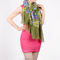 brand name material fabric HD266 60-1 voile scarf fashion print voile scarf shawl and scarves supplier alibaba china
