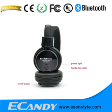 Mini segway Foldable Stereo Cordless Headphones High Performance MicroSD/TF Card Player Patent Designed Headsets With FM Radio