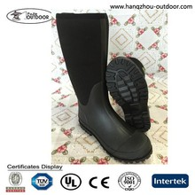 Mens Long Soft and Waterproof Neoprene Rubber Mining Rain Boots