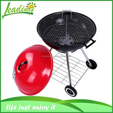 classic red and black color or customzied 22 inch 6.7 kg big barbecue grill meat smoker