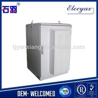 Aluminum outdoor equipment rack SK-240 with air conditioning/Waterproof IP65/Telecom metal cabinet