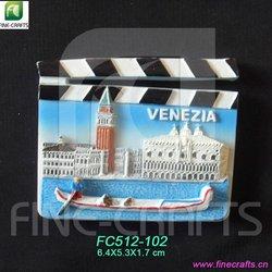 Polyresin Venezia scenery tourist souvenir fridge magnets
