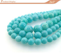 2014 wholesale AAA grade 10mm natural round smooth rough amazonite mineral for jewelry making