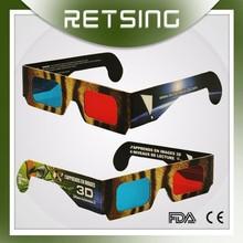 Promotional gifts custom logo 3d glasses carton