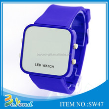 Custom promotional digital silicone led watch