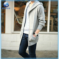 Korean Style Solid Men's Cardigan Fashion Boy's Sweater Gray Black Casual Coats