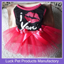 Luck Pet Products 2015 Hot Sale Dogs Pretty Clothes High Quality Best Price Wholesale Dog Dress