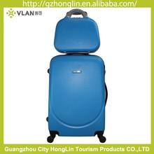 Big Sale Custom Made Wheels Suitcase Hard Waterproof blue attractive luggage/beauty hardside cosmetic case/easy traveling set