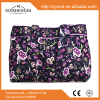 RE009 Quilted 100% Cotton fashion 2015 fabric handbag