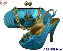 CSB1152 Top selling shoes and bag in elegant design with high heel for lady to match party or wedding
