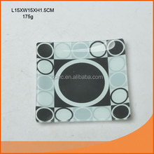 Decal glass plate in square shape
