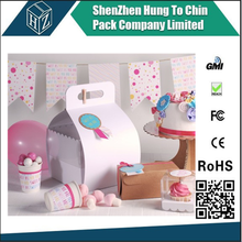 Fashional disign color paper box packaging for cupcake