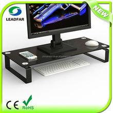 Simple reliable practical detachable desktop monitor rack