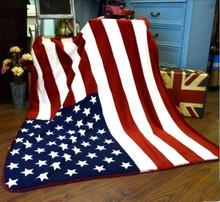 100% Polyester Coral Fleecet he United States Flag Blanket