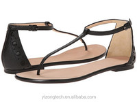 JUSITY 2013 Factory price fashion black casual shoes and girls flat sandals made in china