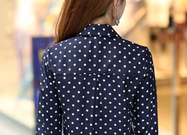 Черная Блузка В Горошек Купить