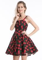 Quanzhou Dress,Skulls,Summer,Cute, Fruit,Oriental rockabilly sexy dress in sexy print