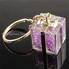 Acrylic crystal key chain advertising promotional gifts
