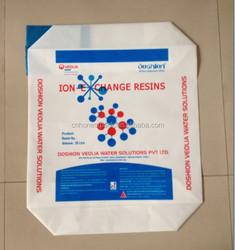 PE plastic heavy duty block Bottom valve bag-FFS bag 25kg resin/polyacrylamide /CPE/carbon black/ice melt/PAM/boric acid-413