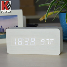 Promotional wholesale rectangle wooden clock mother's day gifts 2015
