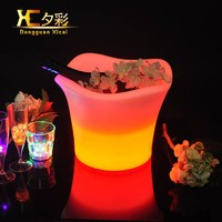 Plastic Wine Cooler Bar Table Beer Holder Wedding Party Champagne LED Ice Bucket