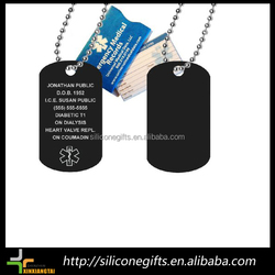 full color printing expoxy stainless steel and silicone custom decorative dog tags