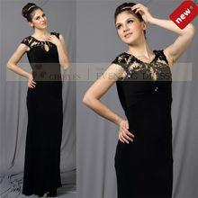 elegante CY50345 sexy largo verano apretado halterneck con cuentas vestido de noche negro porno