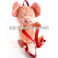 soft pink pig plush backpack, pet backpack for kids