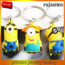 Cartoon Despicable Me 3D Eye Small Minions Keychain For Handbag Charms toy Key Rings