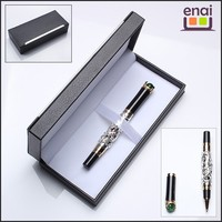 High end business dragondecorative metal roller gift pen set with box