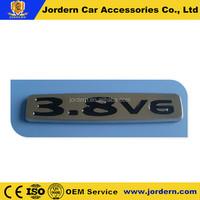 2014 best selling chrome car badge emblem, black 3.8 V6