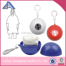 Hot selling high quality raincoat poncho with keyring