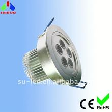 Round recessed high power 5W LED down ceiling lights