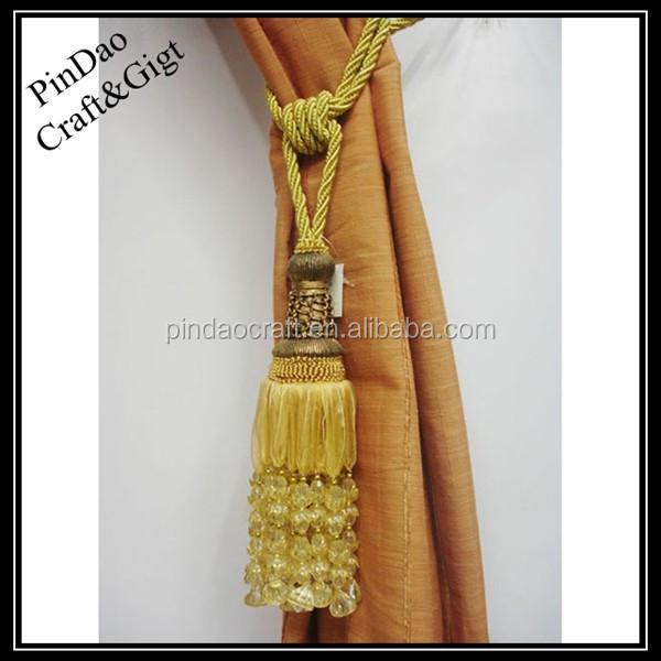 Tassel With Beads & Curtain Tassels - Buy Tieback Tassel,Beads Curtain ...
