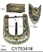 20mm western 3pcs buckle sets
