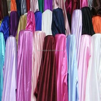 """CHEAP 100% POLYESTER SATIN FABRIC/58/60"""" Width and 100% polyester Material 100 % satin fabric"""
