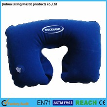 Inflatable PVC flocked neck pillow ,inflatable travel pillow,inflatable pillow