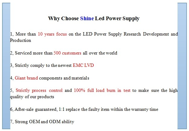 High quality CE RoHS EMC LVD 12V 100W led strip power supply, waterproof led power supply, led light power supply